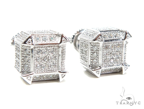 Sterling Silver Earrings 41297 Metal