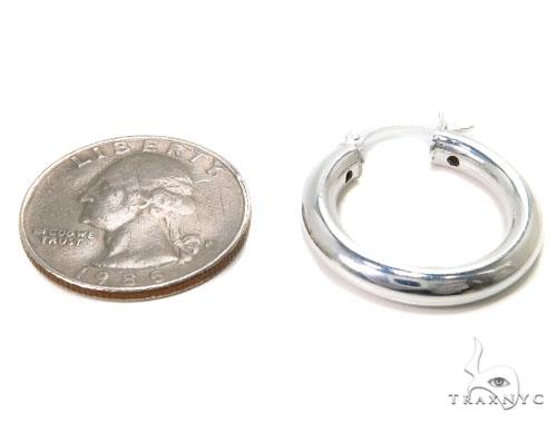 Sterling Silver Hoop Earrings for Women-40038 Metal