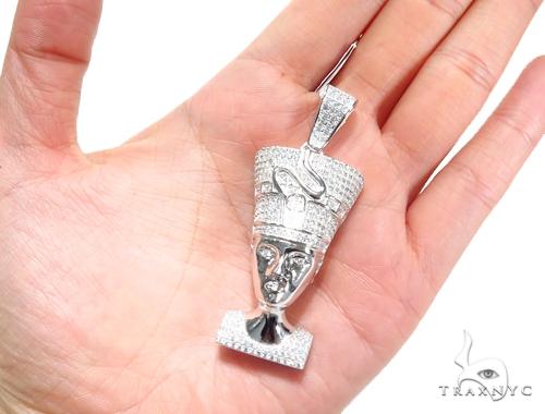 Sterling Silver Nefetiti Pendant 41259 Metal
