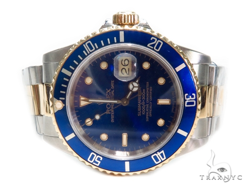 Pre-Owned Rolex Submariner Steel 116613LB Diamond Rolex Watch Collection