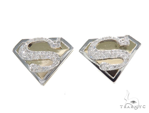 Superman Diamond Earrings 42552 Stone