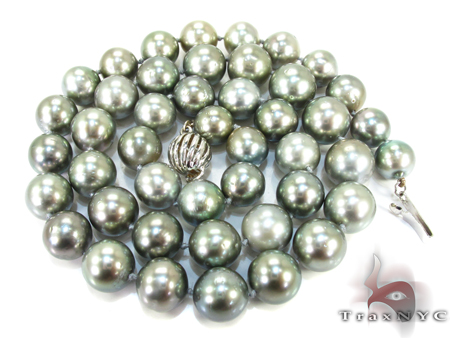 Tahitian Black Pearl Necklace 18 Inches 27175 Pearl