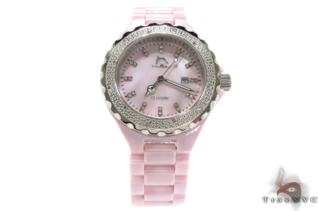 Techno Master Pink Ceramic Diamond Watch Techno Master