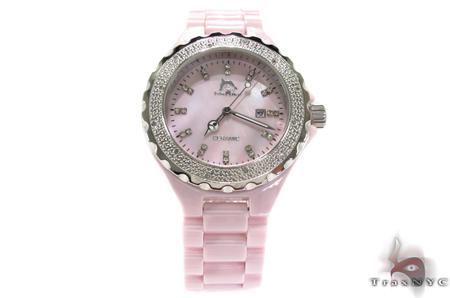 Techno Master Pink Ceramic Diamond Watch Techno Master