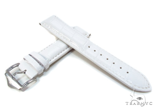 Techno Master White Leather Band 24 mm Watch Accessories