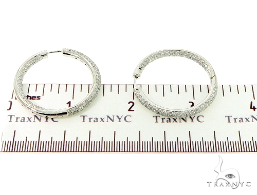 Three Row Diamond Hoops 45603 Stone