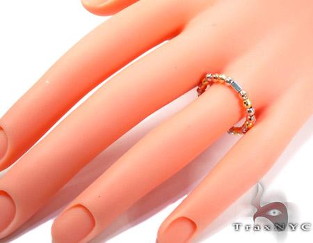 Three Tone Silver Ring Anniversary/Fashion
