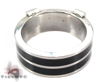 Mens Affordable Zebra Bolt Stainless Steel Ring Metal