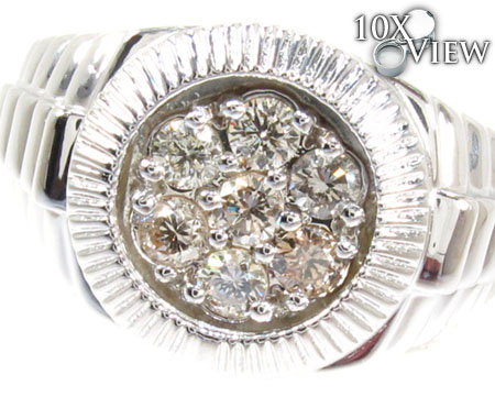 Silver Timepiece Solitaire Ring Metal