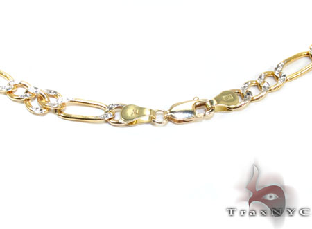Two Tone 10K Gold Chain 24 Inches 5mm 8.0 Grams Gold