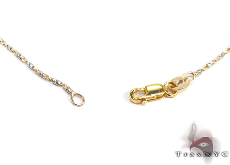 Two Tone 14K Gold n 16 Inches 1mm 3.2 Grams Gold