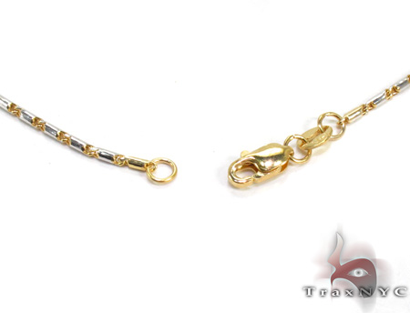 Two Tone 14K Gold Chain 16 Inches 1mm 4.6 Grams Gold