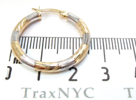 Two Tone 14K Gold Hoop Earrings Metal