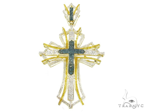 Two Tone Pave Cross Diamond