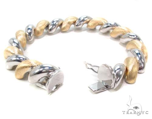 Two Tone Silver Twist Bracelet Silver