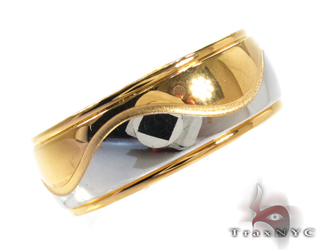 Mens Cheap Stainless Steel Wave Ring Metal
