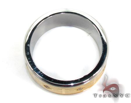 Cheap Mens CZ All Around Cross Ring Metal