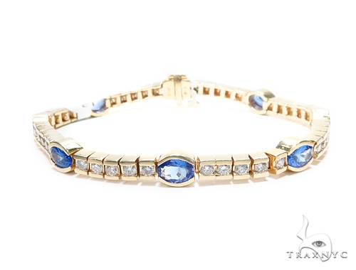 Unique Gemstone Diamond Bracelet 41869 Gemstone & Pearl