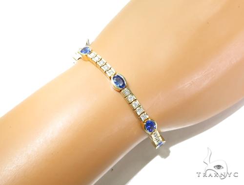 Unique Gemstone Diamond Bracelet 41869 Gemstone & Pearl