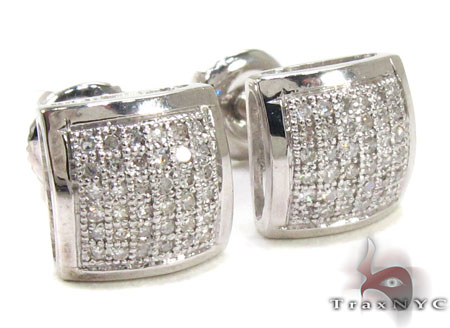 Mens Diamond Earrings 21668 Stone