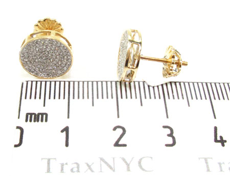 Mens Diamond Earrings 21671 Stone