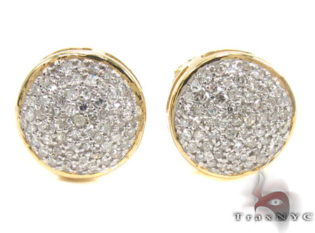 Mens Diamond Earrings 21672 Stone