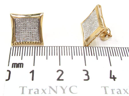 Mens Diamond Earrings 21674 Stone