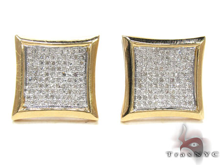 Mens Diamond Earrings 21675 Stone
