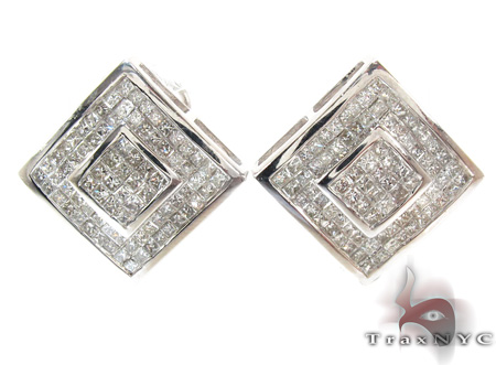 Invisible Diamond Earrings 21405 Stone