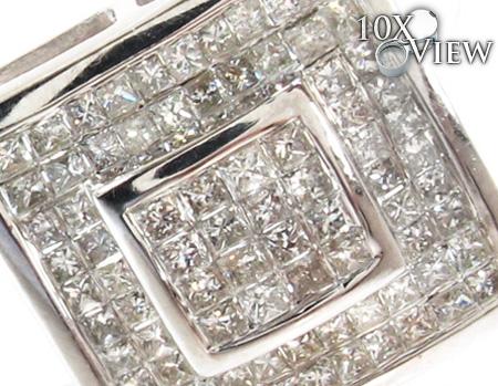 Invisible Diamond Earrings 21405 Stone