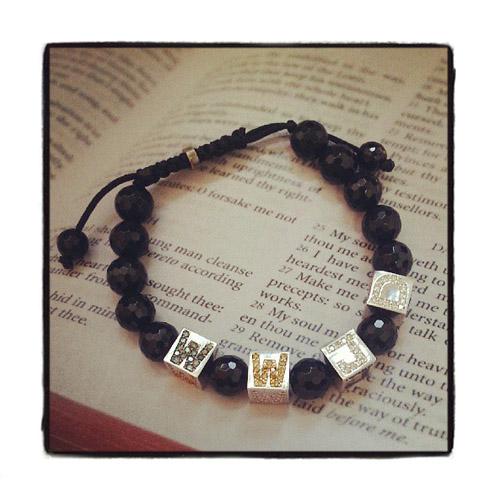 WWJD (What would Jesus do) Diamond Bracelet メンズ ダイヤモンド ブレスレット