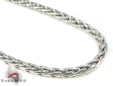 Wheat Silver n 38 Inches, 4mm, 32.4 Grams Silver
