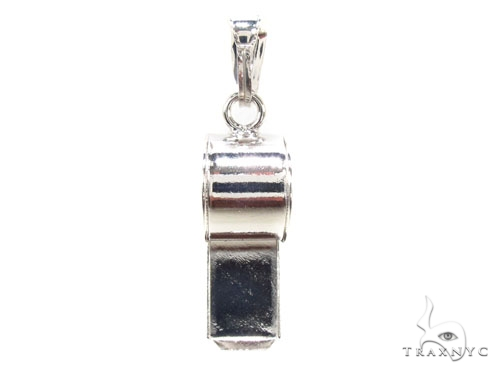Whistle Silver Pendant 36343 Metal