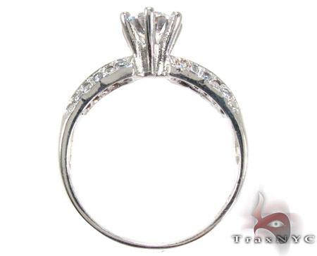 White 10K Gold CZ Ring 25272 Anniversary/Fashion