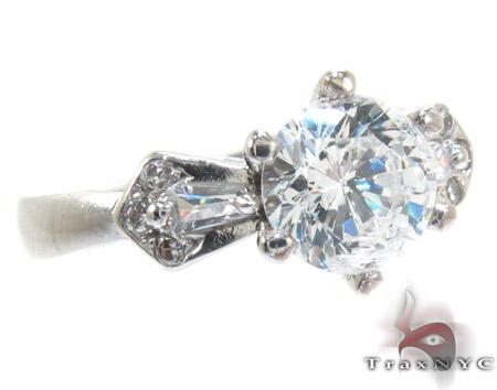 White 10K Gold CZ Ring 25273 Anniversary/Fashion