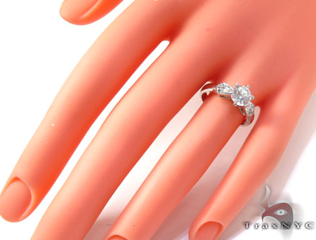 White 10K Gold CZ Ring 25273 Anniversary/Fashion