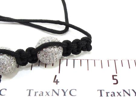 White Crystal Rope Bracelet 27740 Silver