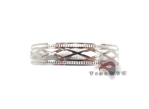 White Gold Cross Band Style