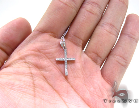 White Gold Diamond Cross 21752 Diamond