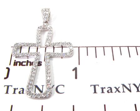 White Gold Diamond Cross 27111 Style