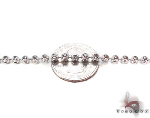 White Gold Disco Ball Chain 30 Inches 4mm 32.1 Grams Gold