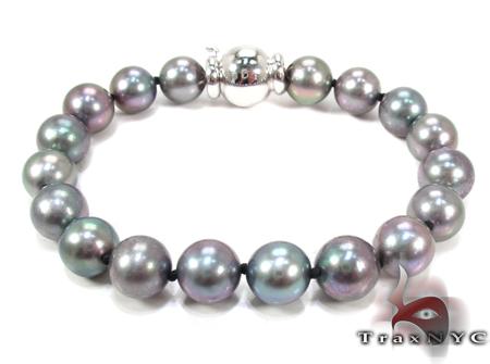 White Gold Pearl Bracelet 28146 Pearl Bracelets