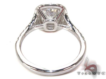 White Gold Princess Round Cut Prong Diamond Wedding Ring Engagement