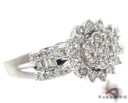 Gold Round Baguette Cut Prong Channel Diamond Ring Diamond Wedding Rings