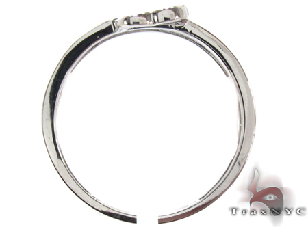 14K White Gold Micro Pave Diamond Heart Ring Anniversary/Fashion