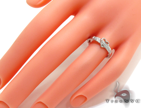 14K White Gold Micro Pave Diamond Heart Ring Anniversary/Fashion