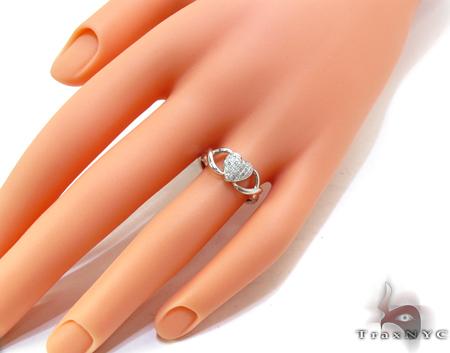 14K White Gold Pave Diamond Heart Ring Anniversary/Fashion