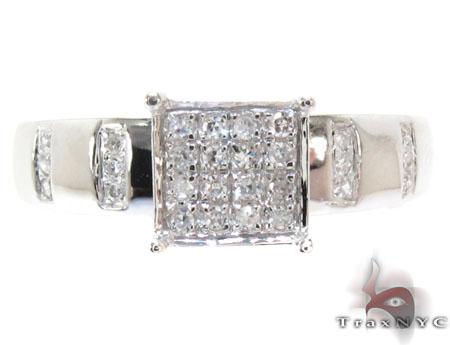 White Gold Round Cut Prong Diamond Ring Set Engagement