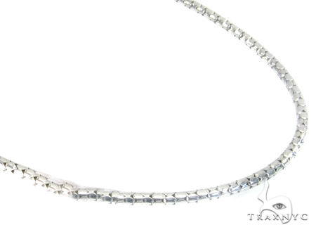 White Gold Snake Link n 14K 16 Inches, 2mm, 4.7 Grams Gold