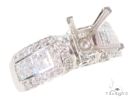 White Gold Solitaire Semi Mount Ring Engagement